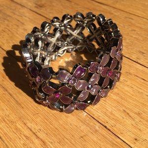 Purple chunky stretch bracelet